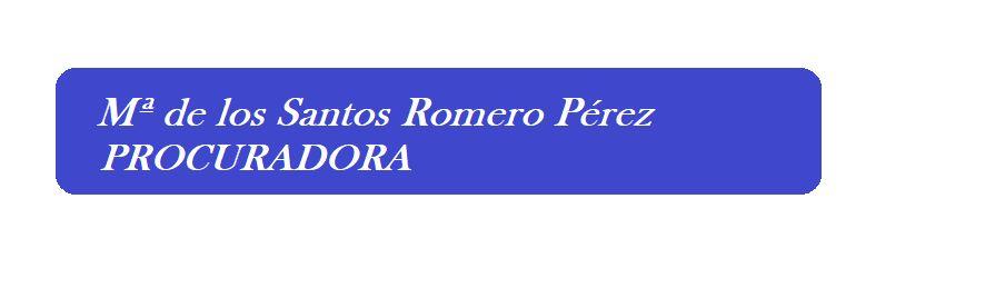 María de los Santos Romero Pérez - Procuradora