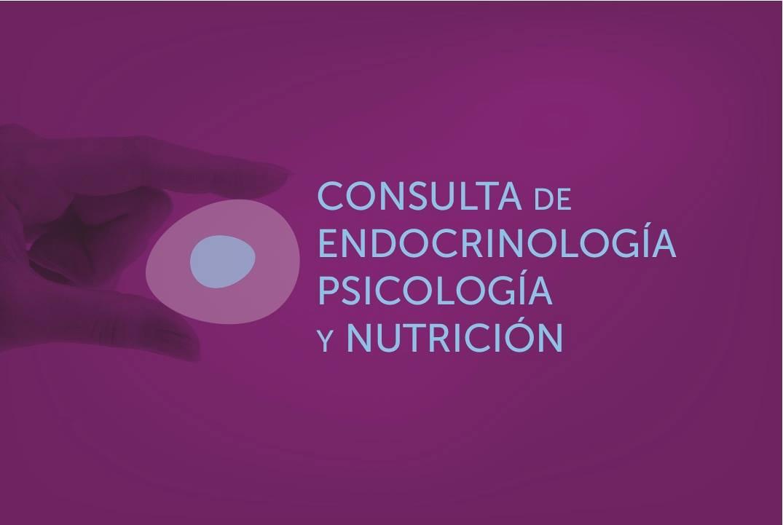 Consulta de endocrinología, psicología y nutrición