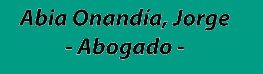 Jorge Abia Onandía