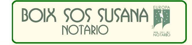 Susana Boix Sos - Notaria