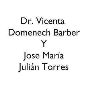Dr. Vicenta Domenech Barber Y Jose María Julián Torres