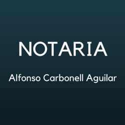 Notario Alfonso Carbonell Aguilar