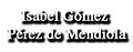 Procurador Isabel Gomez Perez de Mendiola