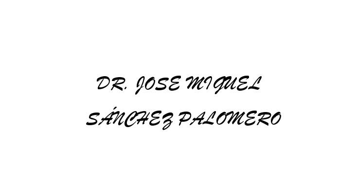 Dr. José Miguel Sánchez Palomero