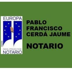 Notario Cerdá Jaume Pablo Francisco