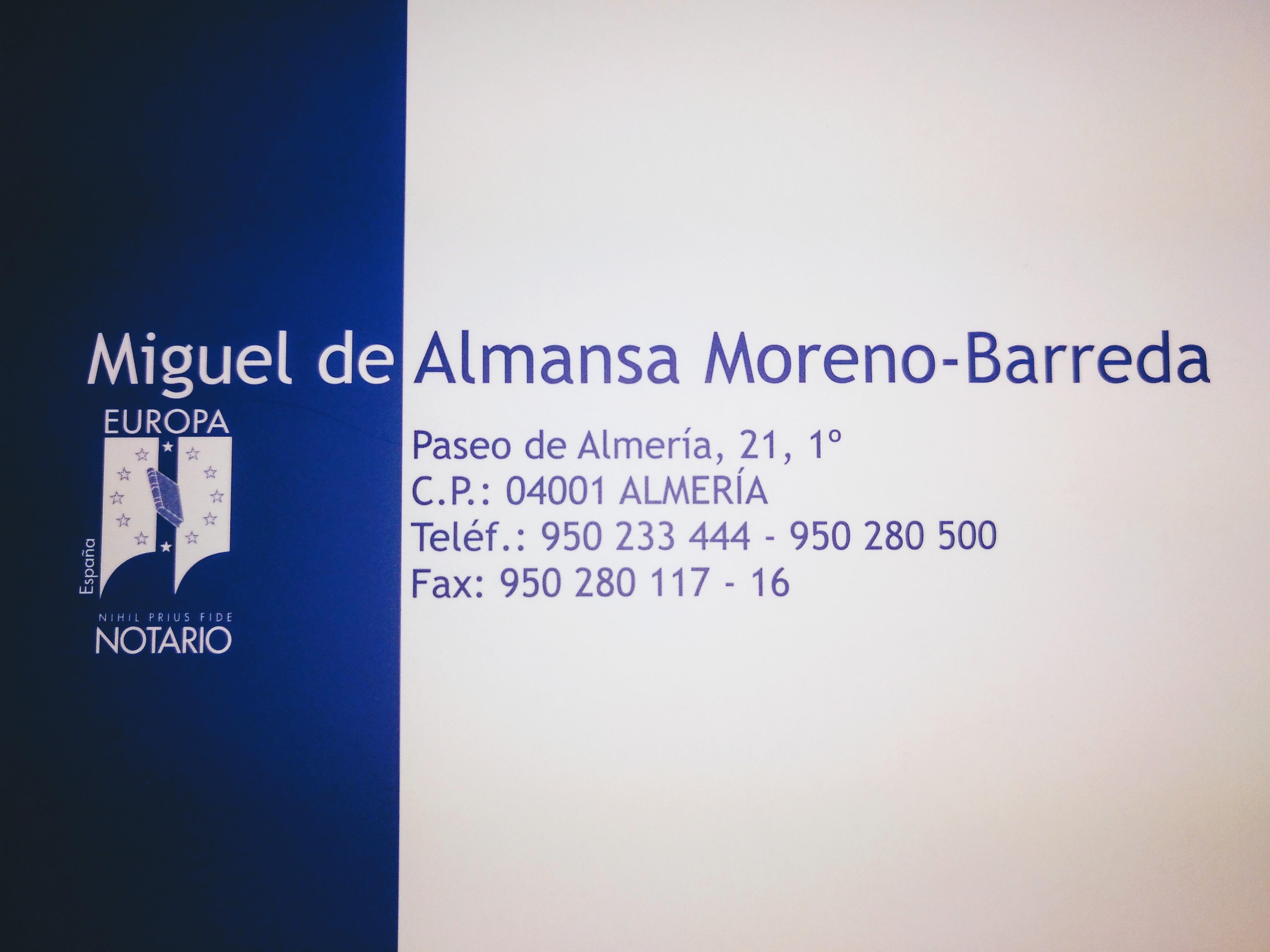 Notaría Miguel de Almansa Moreno-Barreda