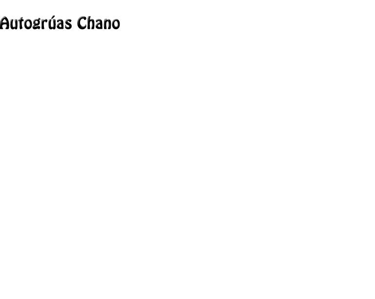 Autogrúas Chano
