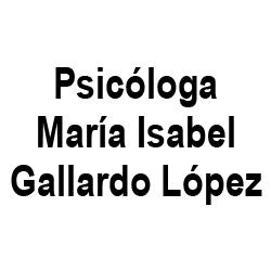 Psicóloga María Isabel Gallardo López