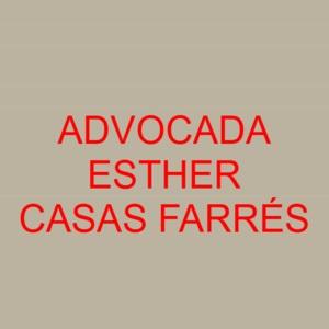 Advocada Esther Casas Farrés