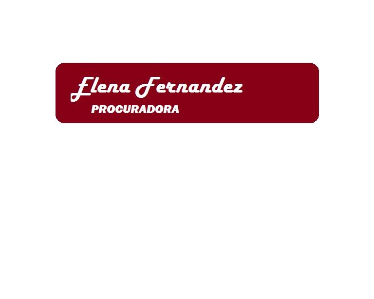 Elena Fernández Procuradora