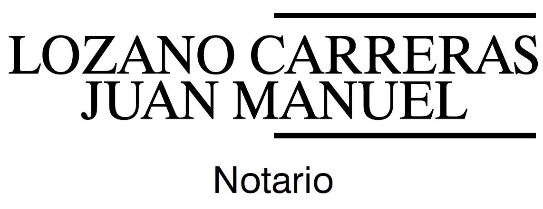 Notaria D.Juan Manuel Lozano Carreras y D.Miguel García Gil