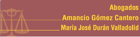 Abogados Amancio Gómez y María José Durán