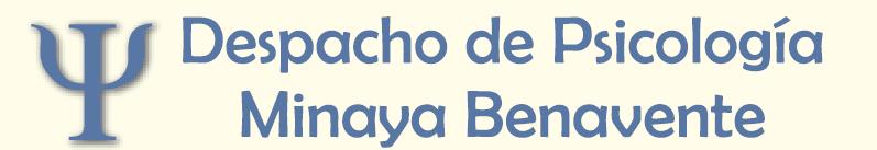 Minaya Benavente - Despacho de Psicología