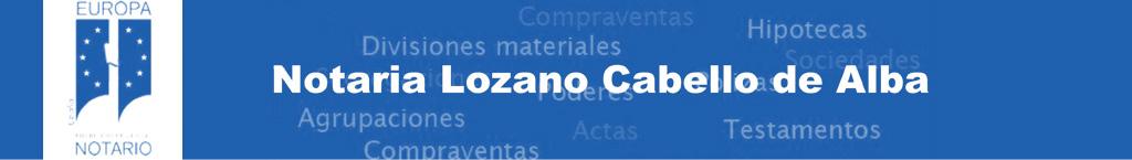 Notaría Lozano Cabello De Alba