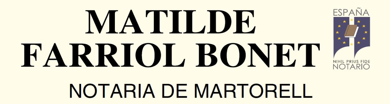 Notaría Martorell Matilde Farriol Bonet