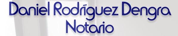 Notario Daniel Rodriguez Dengra