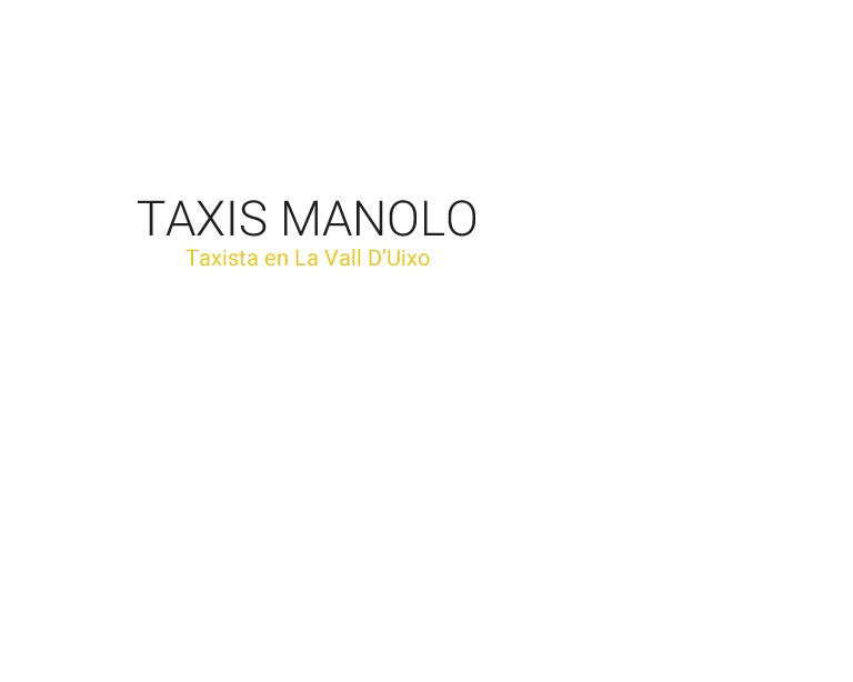 Taxis Manolo
