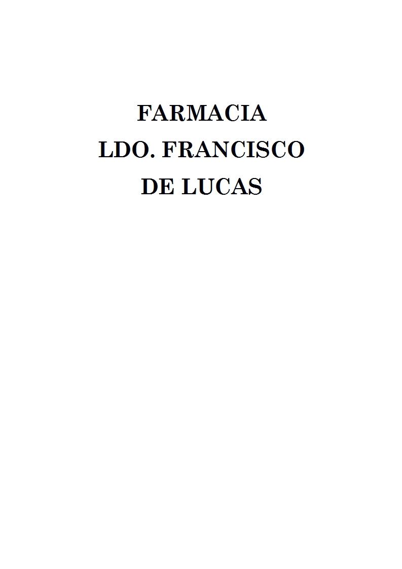 Farmacia Ldo. Francisco De Lucas