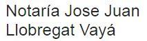 Notaría Jose Juan Llobregat Vayá