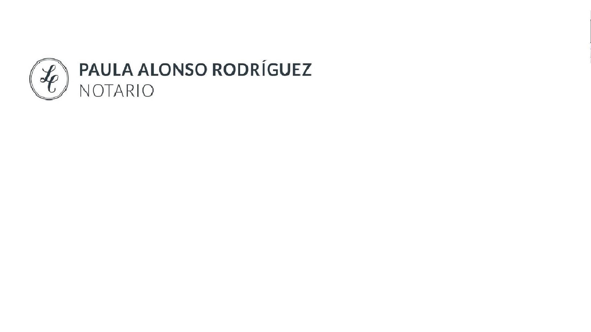 Notaría Paula Alonso Rodríguez