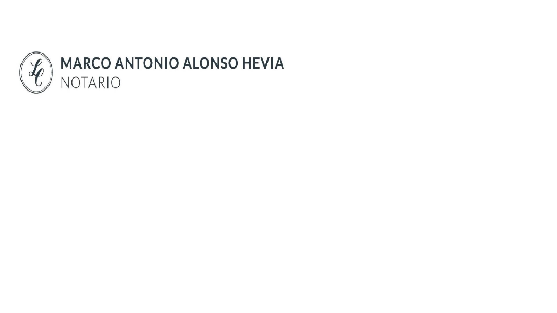 Notaría Marco Antonio Alonso Hevia