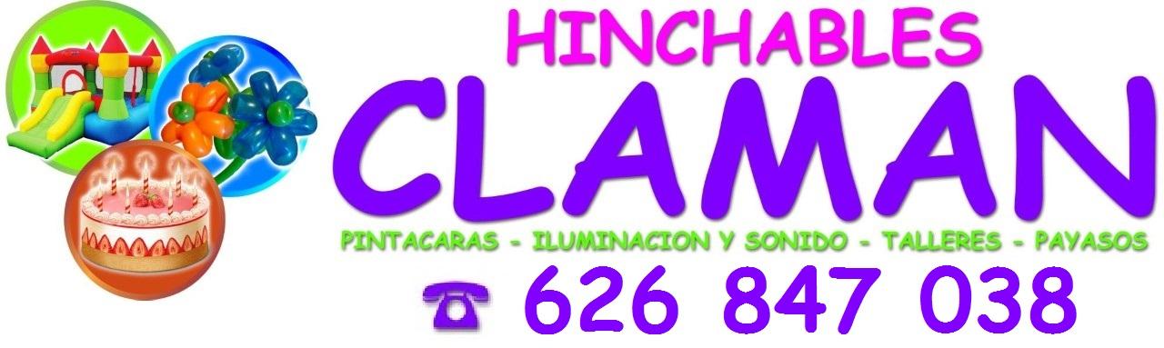 Castillos y Toboganes Hinchables Claman