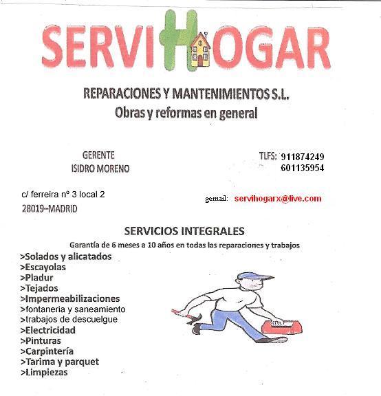 Servihogar Reparaciones Y Mantenimiento S.L.
