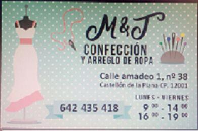 M&T Confección y Arreglo De Ropa