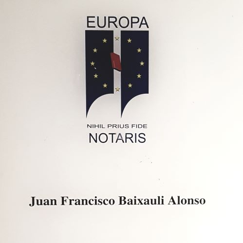 Notaría en Valencia Juan Francisco Baixauli Alonso