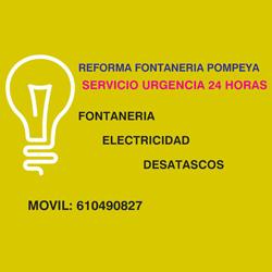 servicio urgencia 24h             fontanería, electricidad