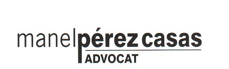 Advocat Manel Pérez Casas