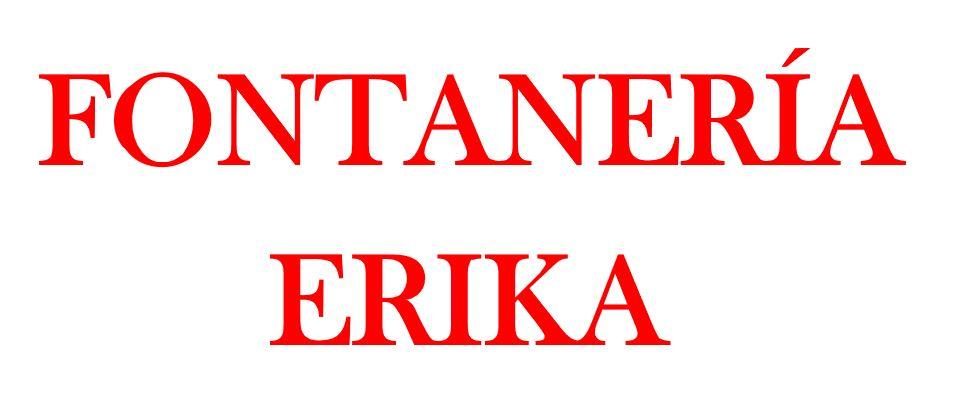 FONTANERÍA ERIKA
