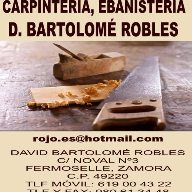 Carpinteria Ebanisteria D. Bartolome Robles.