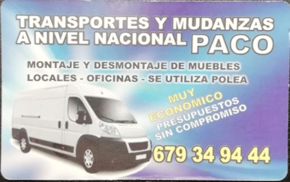 Transportes y Mudanzas Paco