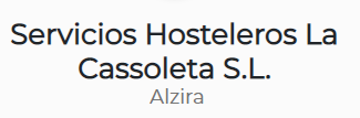 SERVICIOS HOSTELEROS LA CASSOLETA
