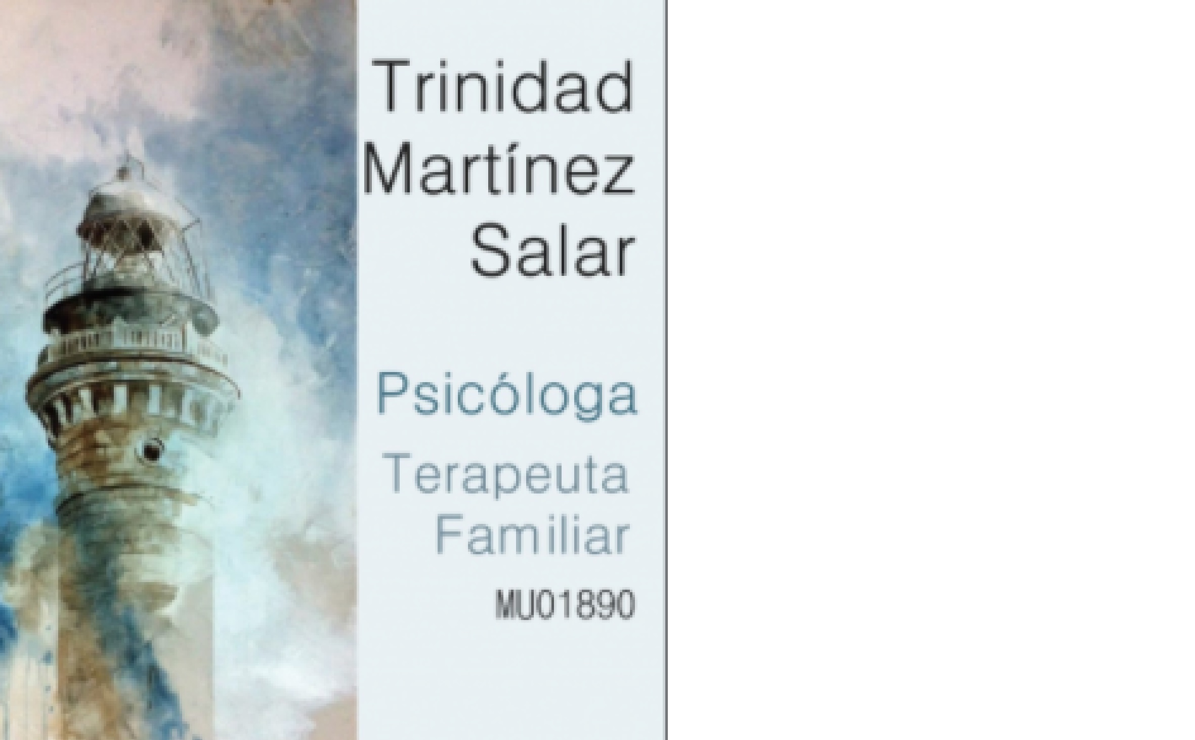 Psicóloga Trinidad Martínez Salar