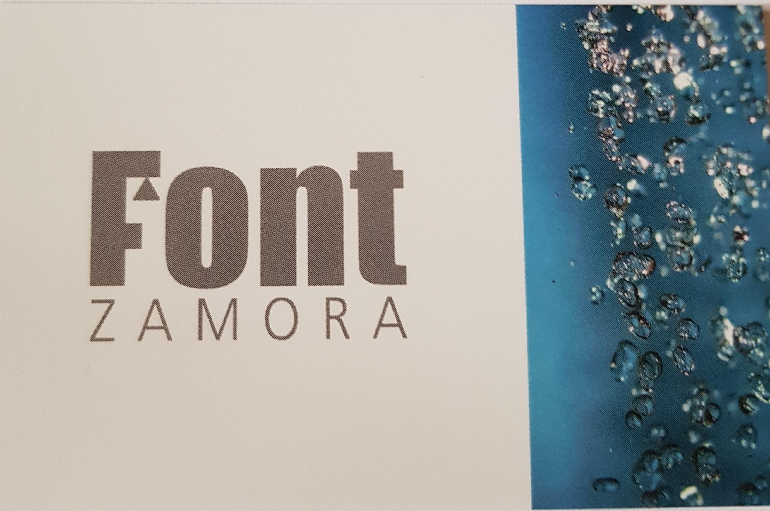Font Zamora.