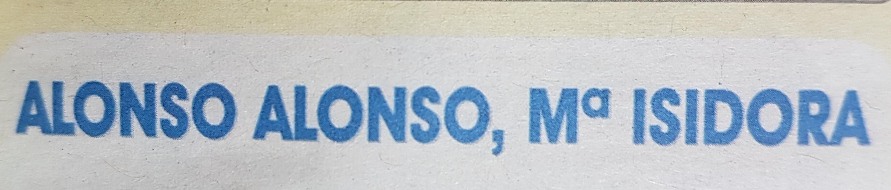 Alonso Alonso Mª Isidora