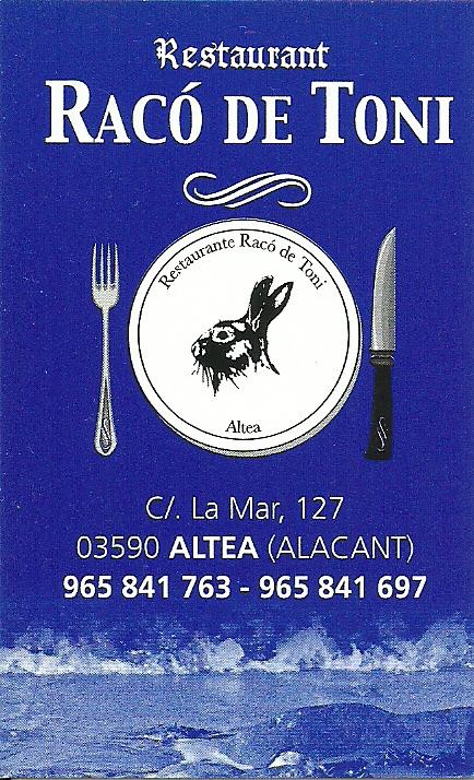 Restaurante Mesón Racó De Toni
