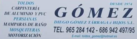 Carpintería de Aluminio, toldos y PVC Gómez