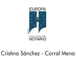 NOTARÍA DE PETRER Cristina Sánchez-Corral Mena