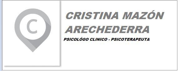 Cristina Mazón Arechederra- Psicologo Clinico-Psicoteraputa niños-adolescentes y adultos
