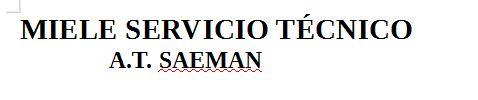 MIELE SERVICIO TÉCNICO A.T. SAEMAN