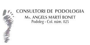 CONSULTORI DE PODOLOGIA Mª ÀNGELS MARTÍ BONET